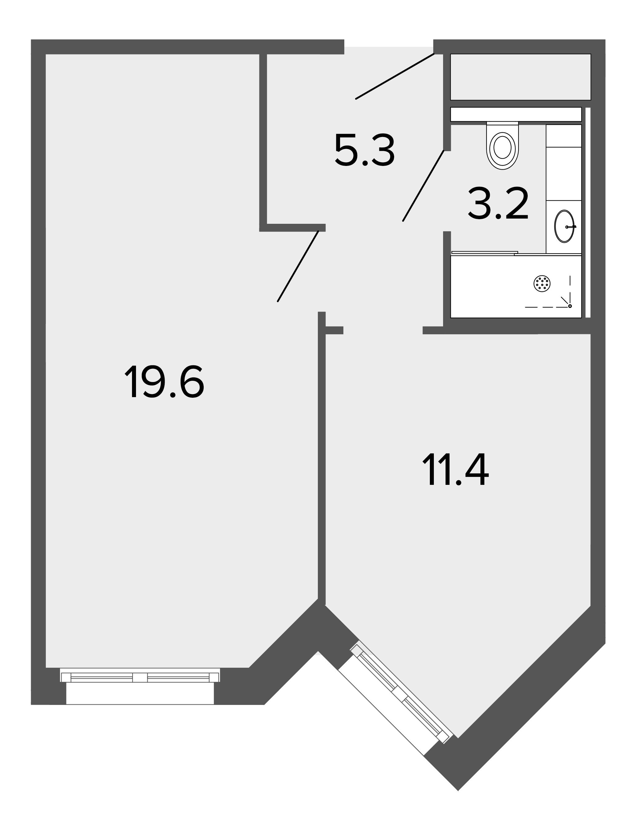 1-комнатная квартира, 39.8 м²; этаж: 8 - купить в Санкт-Петербурге