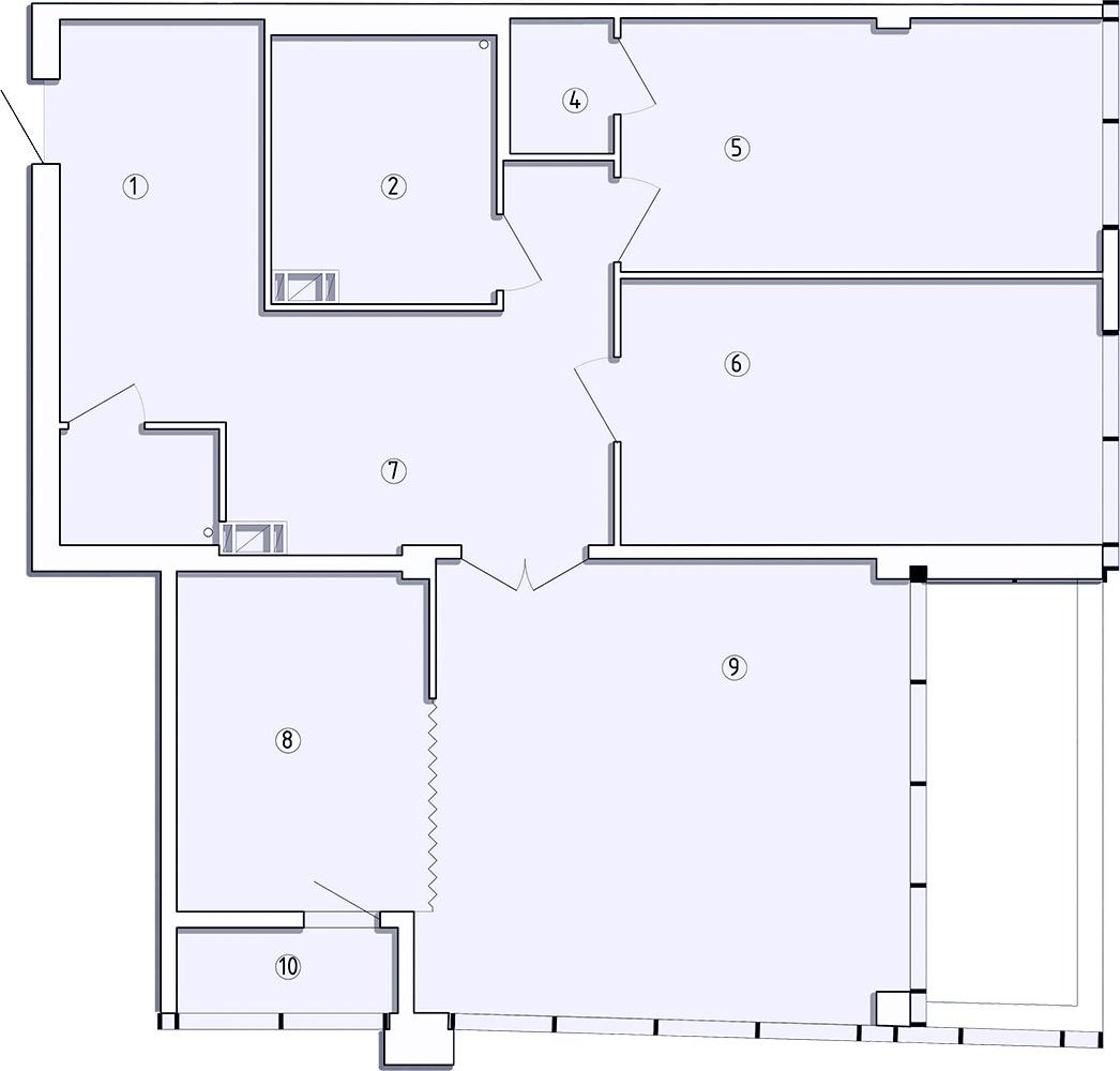 3-комнатная квартира, 117.4 м²; этаж: 7 - купить в Санкт-Петербурге