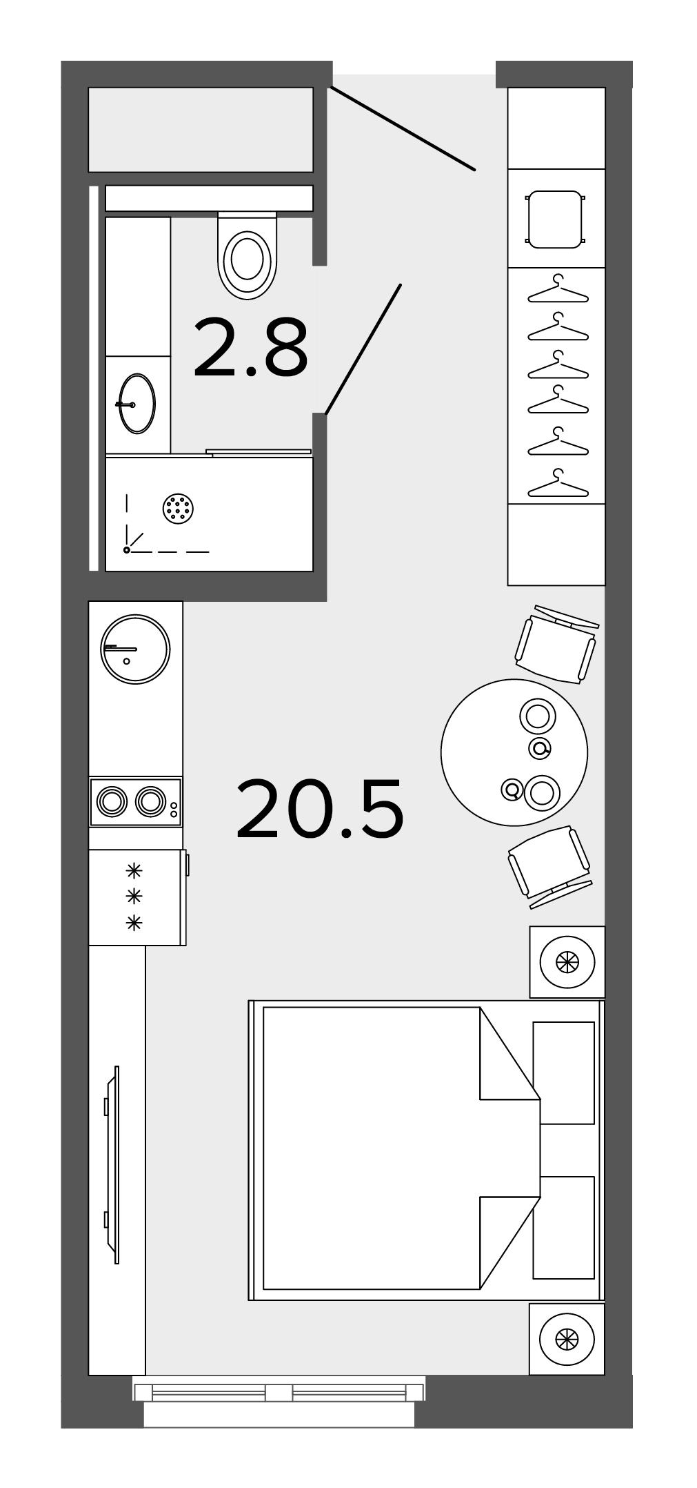 1-комнатная квартира, 23 м²; этаж: 5 - купить в Санкт-Петербурге