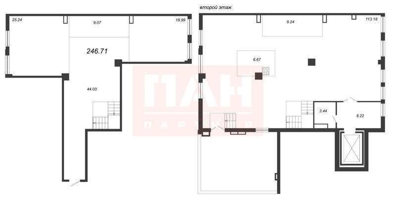 1-комнатная квартира №5-7/1, литера А в: Маленькая Франция: 247.35 м²; этаж: 5 - купить в Санкт-Петербурге