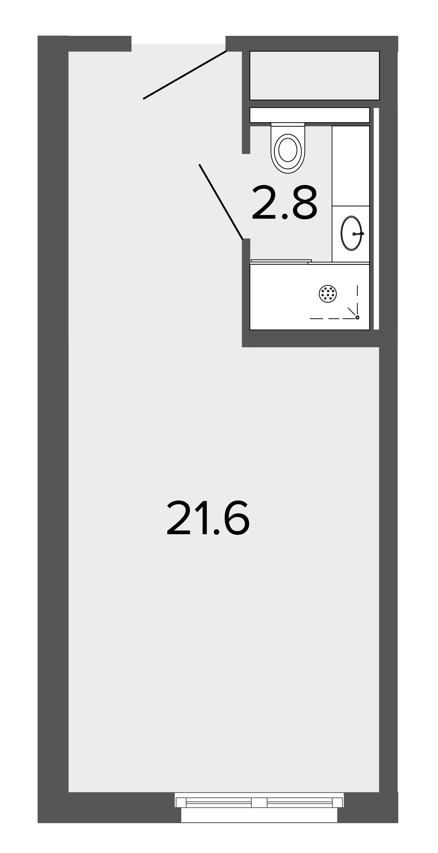 1-комнатная квартира, 23.9 м²; этаж: 9 - купить в Санкт-Петербурге