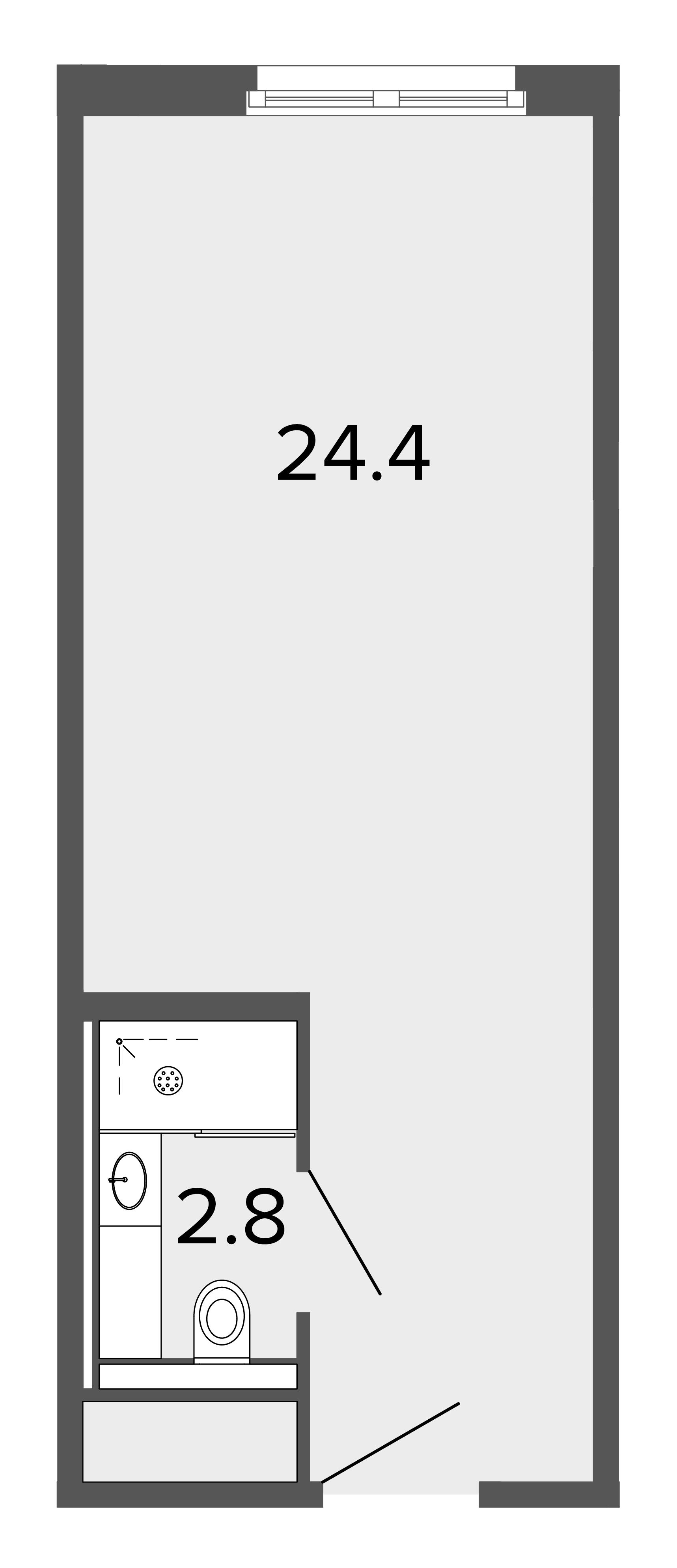 1-комнатная квартира, 26.7 м²; этаж: 5 - купить в Санкт-Петербурге