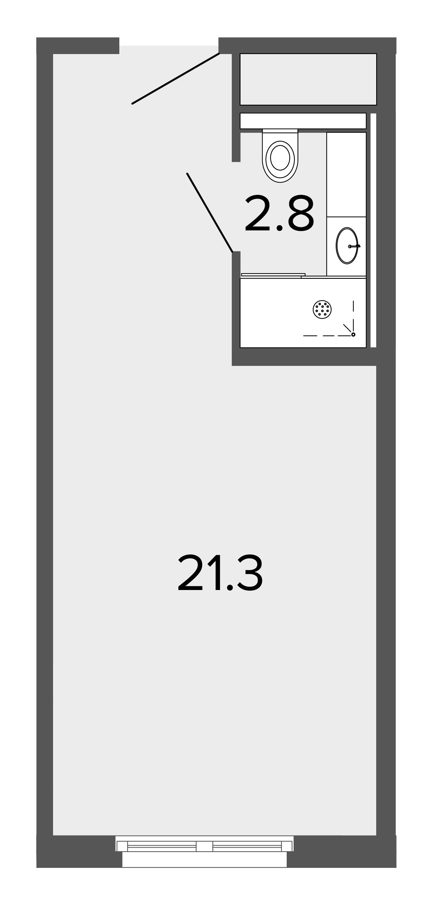 1-комнатная квартира, 24.4 м²; этаж: 3 - купить в Санкт-Петербурге