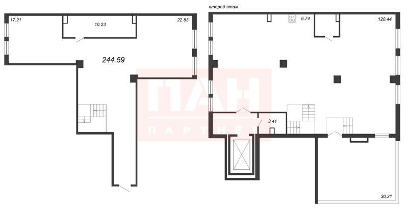 1-комнатная квартира №5-7/1, литера А в: Маленькая Франция: 246.35 м²; этаж: 5 - купить в Санкт-Петербурге