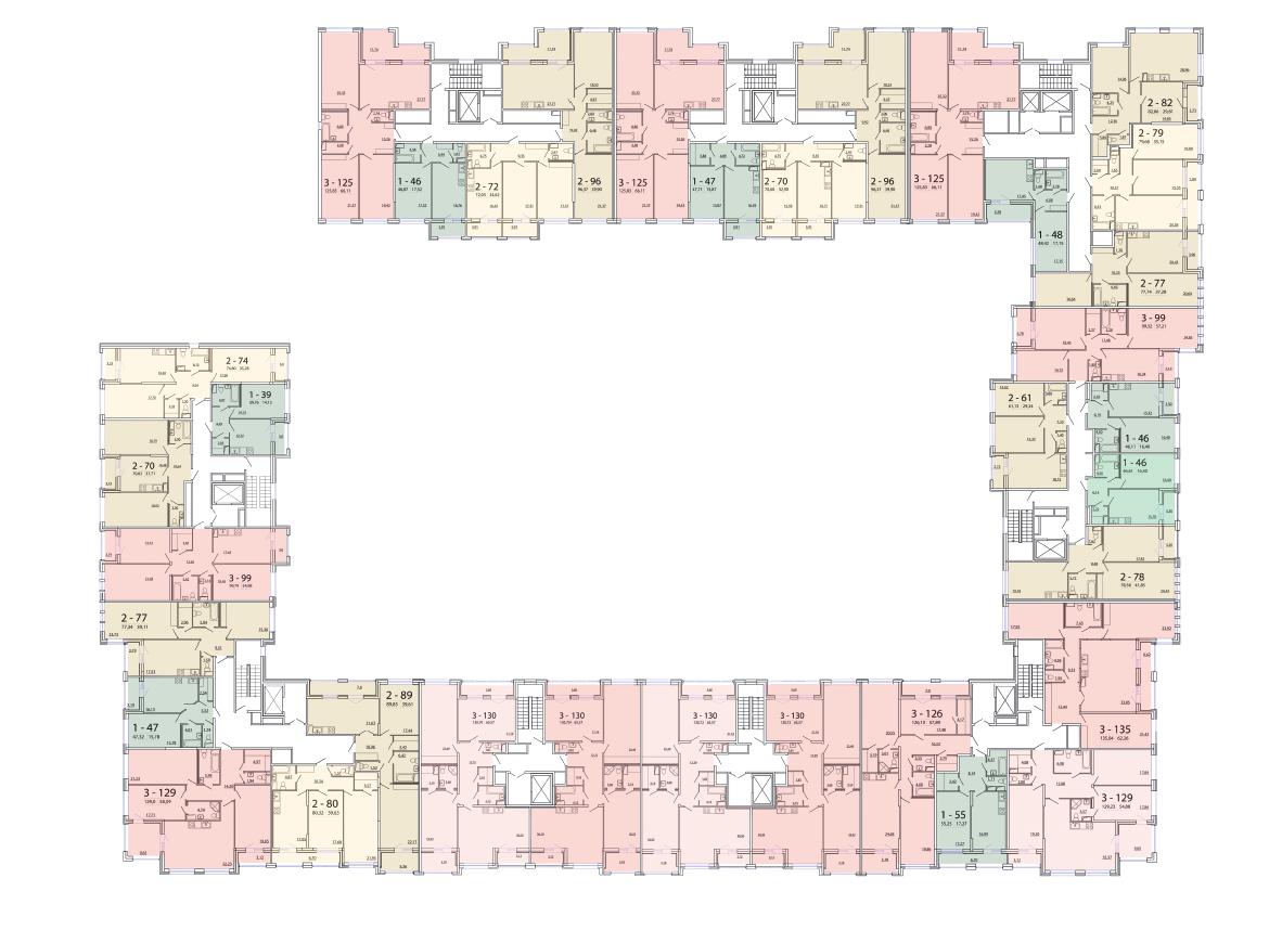 Схема этажа