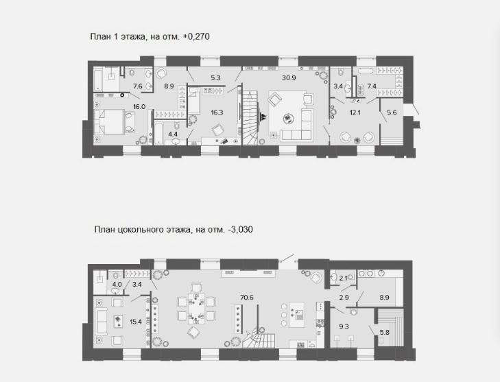 5-комнатная квартира, 240.3 м²; этаж: 1 - купить в Санкт-Петербурге
