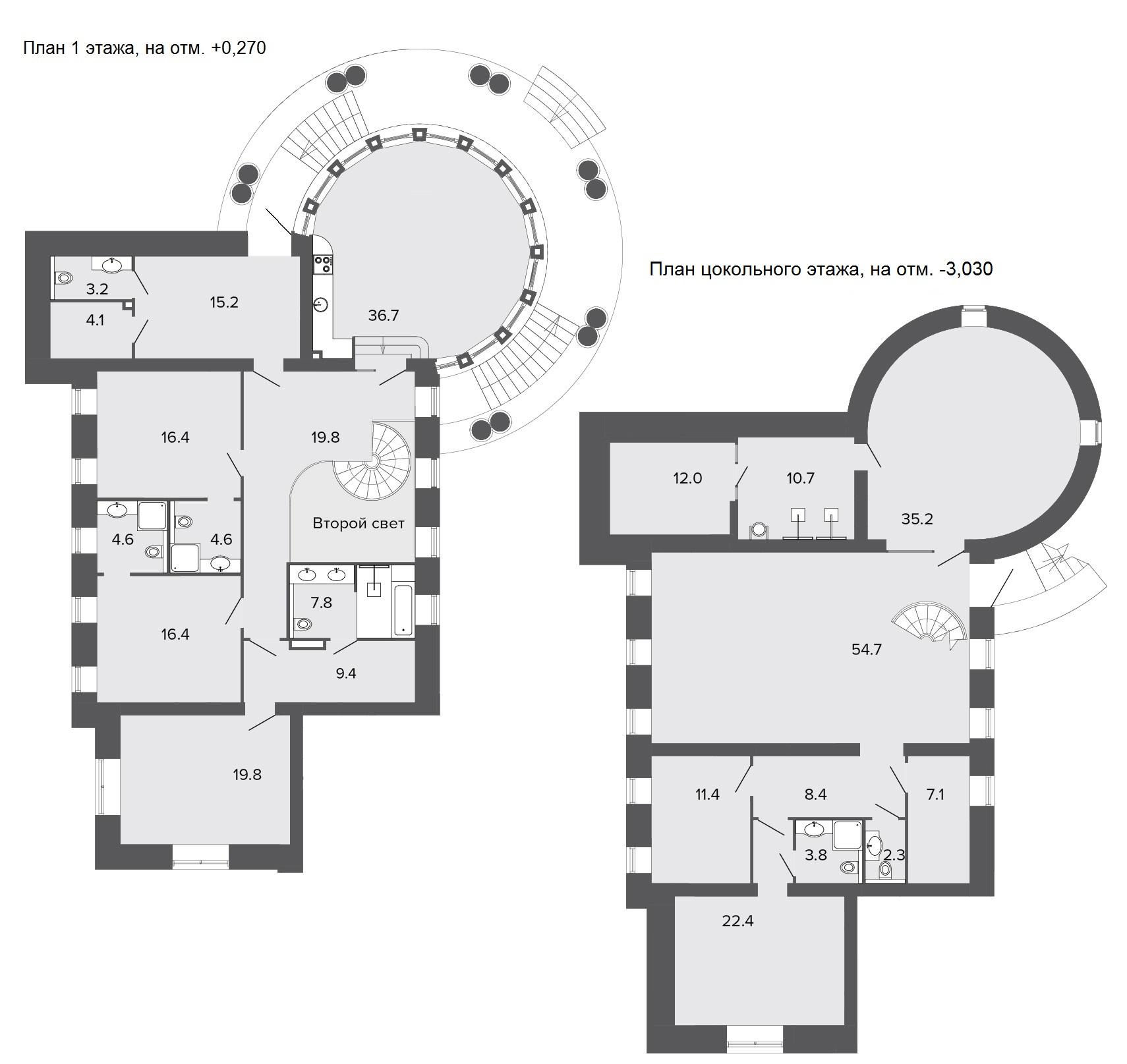 5-комнатная квартира, 326 м²; этаж: 1 - купить в Санкт-Петербурге