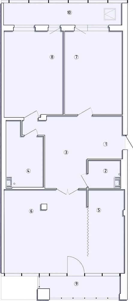 3-комнатная квартира, 140.7 м²; этаж: 3 - купить в Санкт-Петербурге