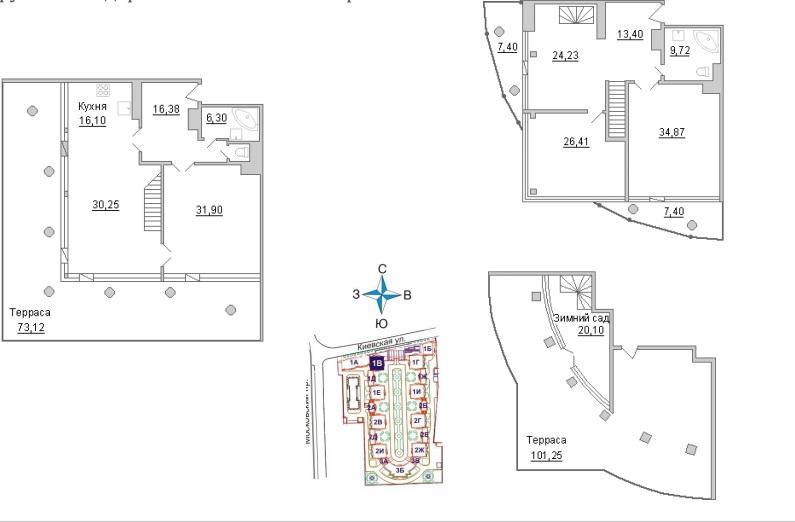 4-комнатная квартира №3  в: ЖК Империал: 230.8 м²; этаж: 19 - купить в Санкт-Петербурге