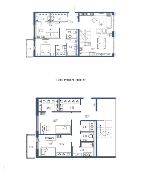 4-комнатная квартира, 156.96 м²; этаж: 7 - купить в Санкт-Петербурге