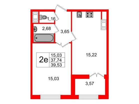 2-комнатная квартира, 95 м²; этаж: 5 - купить в Санкт-Петербурге