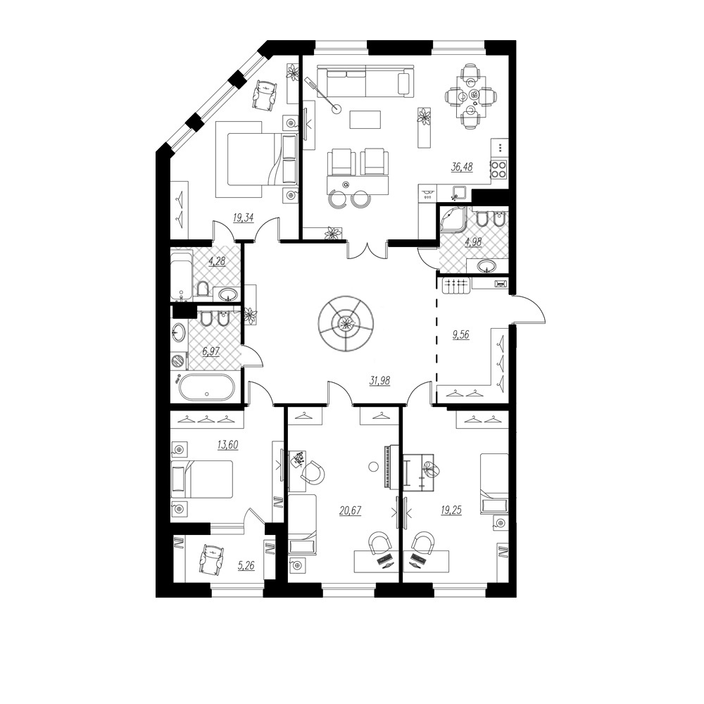 4-комнатная квартира, 169.74 м²; этаж: 5 - купить в Санкт-Петербурге