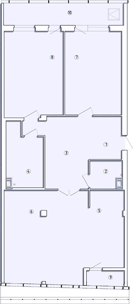 3-комнатная квартира, 143.7 м²; этаж: 8 - купить в Санкт-Петербурге