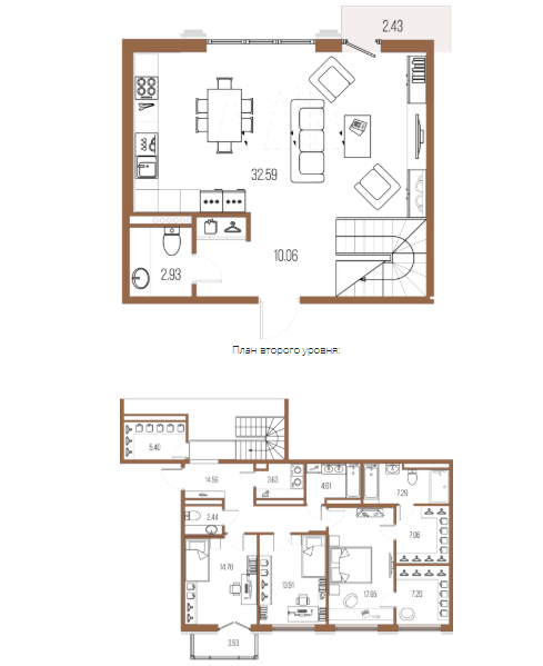 3-комнатная квартира, 144.03 м²; этаж: 7 - купить в Санкт-Петербурге