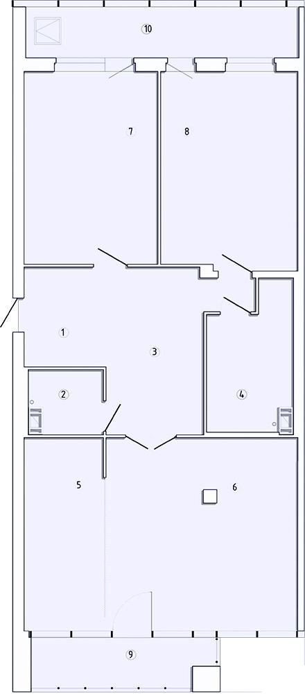 3-комнатная квартира, 144.6 м²; этаж: 8 - купить в Санкт-Петербурге