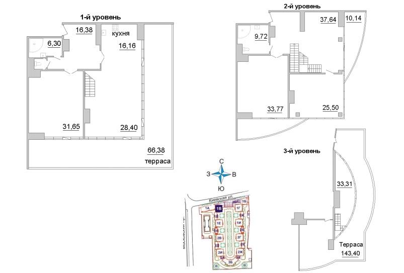 3-комнатная квартира, 252.2 м²; этаж: 19 - купить в Санкт-Петербурге
